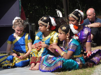 [ Fabrizia's students waiting to perform at Kaleidoscope Festival ]