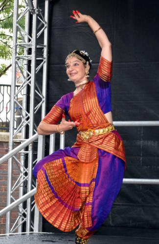 Fabrizia onstage at Big Dance in Luton, 2012
