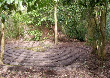 The Labyrinth behind The Strawbale Studio at Michael's Folly